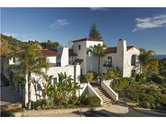 2794 Bella Vista Drive, Montecito, CA 93108 — Classic Spanish Colonial home blends traditional Spanish with contemporary architecture. Remodeled in 2004, updated with state-of-the-art amenities, gourmet kitchen, library, 2 offices which can be converted to bedrooms, wine  pool table room, infinity pool and a separate guest. Master bedroom suite has private ocean view patio w/fireplace.  3.8 +/- acres has a fruit orchard,   creating  privacy.