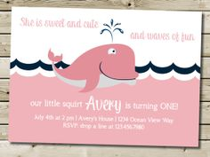 Custom Printable Whale Little Squirt by PurplelephantDesigns, $12.00