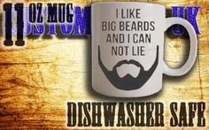 11oz I like big beards tea/coffee custom printed by customprintuk