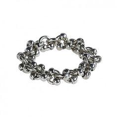 """Der Ring """"Molecular"""" in Silber wird aus vergoldetem Schmuckmessing in Handarbeit gefertigt. Handmade in Germany!"""