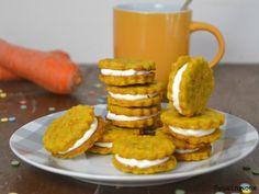 Galletas de zanahoria rellenas de crema de queso | Cuuking! Recetas de cocina My Recipes, Sweet Recipes, Cookie Recipes, Dessert Recipes, Favorite Recipes, Desserts, Biscuits, Macaron Recipe, Xmas Food