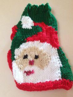 XS Hand Knit Santa Claus Dog Sweater Chihuahua by RocknHotdog