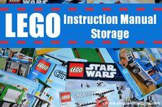 Simple LEGO instruction manual storage solution