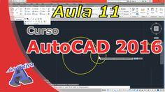Curso de AutoCAD 2016 – Comandos de Modifição Parte 1 – Aula 11 – Autocr... Autocad 2016, Tech Companies, Company Logo, Logos, Classroom, A Logo, Legos
