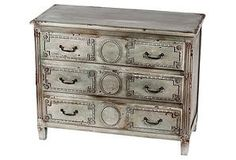 One Kings Lane - Layered in Color - Goodwin Accent Chest, Gray-Wash