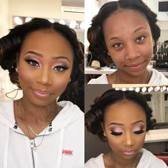 """945 Likes, 27 Comments - Star Bahati (@star4makeup) on Instagram: """"My beautiful client came to set yesterday for a Quick beat I love my clients they are so…"""""""