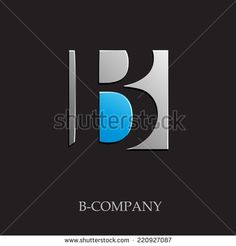 Vector sign initial letter B on black background