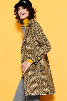edc - Multicolour-Mantel aus Woll-Mix