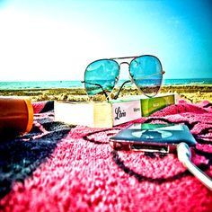 Sunglasses. Good book. Good music. SUMMER 2K12