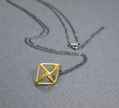 Check out this item in my Etsy shop https://www.etsy.com/listing/575404123/sterling-silver-necklace-rhombus