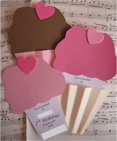 Handmade Cupcake Birthday Party Invitations by speckled-egg, via Flickr