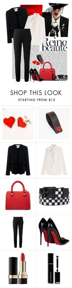 """""""Spot on"""" by polybaby ❤ liked on Polyvore featuring 10 Crosby Derek Lam, Valentino, Victoria Beckham, Chloé, Christian Louboutin, Dolce&Gabbana, Givenchy, bellastreasure, bellacuff and cufflink"""