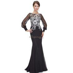 Černo bílé šaty s krajkovým živůtkem a vlečkou Společenské Šaty dac3609545