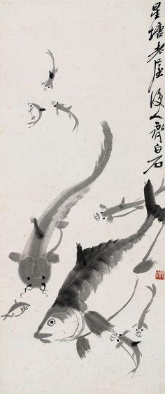Qi Baishi's Fish | Chinese Painting | China Online Museum