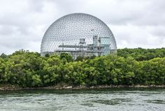 MONTREAL, CANADA - JUNE 28:  The Biosphere Environment Museum, featuring a geodesic dome designed by Richard Buckminster Fuller, is viewed on June 28, 2015 in Montreal, Quebec, Canada. Montreal, the largest city in Quebec Province, is a predominantly French-speaking, multi-cultural city set on an island on the Saint Lawrence River. (Photo by George Rose/Getty Images)