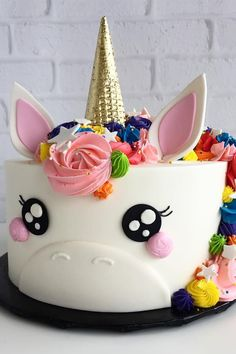 Unicorn Happy Birthday Wishes Cake With Your Name.Create Name On Birthday Wishes Cake.Cartoon Birthday Wishes Cake With Name.Best Birthday Cake Name Pix Editor Pretty Cakes, Cute Cakes, Beautiful Cakes, Amazing Cakes, Cake Cookies, Cupcake Cakes, Party Cupcakes, Fondant Cakes, Savoury Cake