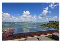 A gorgeous rooftop pool with stunning bay views.  Biscayne, FL $19,500,000
