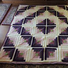 Crocheted Log Cabin Throw Pattern