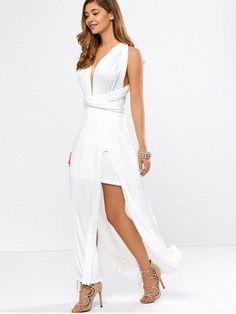 #RoseGal.com - #RoseGal High Slit Convertible Maxi Dress - AdoreWe.com