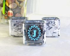 DIY Mercury Glass Monogram votives Support me and other designers creating DIYs on Darby Smart, Martha Stewart Crafts, Mercury Glass, Class Ring, Shot Glass, Monogram, Diy Projects, Jar, Create
