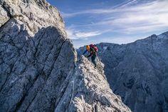 Der Blassengrat im Wetterstein - ein alpiner und wenig begangener Klassiker im Wetterstein. Der Blassengrat ist die 'Verlängerung' des Jubiläumsgrates.