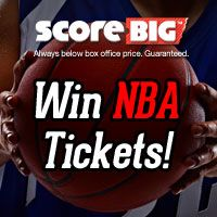 I just entered to win four tickets to an upcoming NBA game. You should enter too! We get extra entries the more friends we get to enter. How about if you win, you take me. I win, I'll take you. Deal?