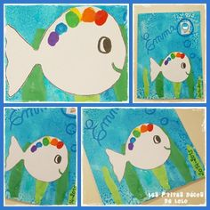 petit poisson blanc Ocean Themes, Beach Themes, Head Start Preschool, Diy And Crafts, Crafts For Kids, Petite Section, Arabic Funny, How To Speak French, Animal Crafts
