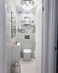 How's everyone's Saturday been? We've been at work, then did the food shop and only just got a chance to sit down so it's a well earned chill day tomorrow 😌 Bathroom Design Small, Bathroom Interior Design, Modern Bathroom, Interior Decorating, Small Downstairs Toilet, Small Toilet Room, Luxury Homes Interior, Bathroom Inspiration, Home Decor Accessories