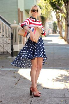 Great 4th of July outfit! Adorable!