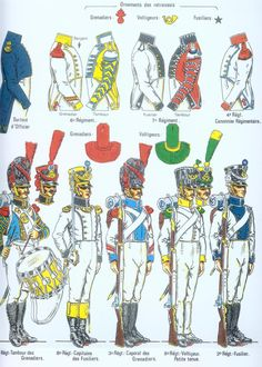Line Infantry, Regts 1 to 8 Military Art, Military History, Military Uniforms, First French Empire, War Drums, Italian Army, French Revolution, American Revolution, French Army