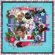 Digital Scrapbook Page by Claudi | We Go Together by Bella Gypsy Designs