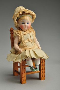 Kestner all-bisque doll with jointed knees, 5 1/2 inches, est. $1,500-$3,500. Images courtesy of Morphy Auctions. found on scoop.diamondgalleries.com