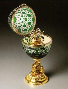 Faberge Egg Lilies of the Valley ♥ Crystal Egg