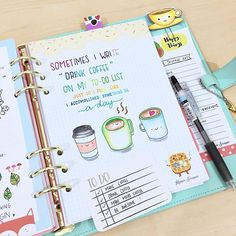 I read from a post in the #bulletjournaljunkies FB group about procrastinating, not checking task off, and migrating the task, which is so ME! I am tired of migrating task sometimes so I have a running to-do list, and first thing first, drink coffee in the morning! I have never been a coffee lover until recently, I am truly addicted to mocha and Kopi-o. Does anyone know what's Kopi-O? ☕️ . #bulletjournal #braindump #bulletjournaling #bujo #butfirstcoffee #doodle #planneraddict…