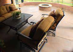 Resurfaced Concrete, Integral color Buff, and Concrete Sealer. Concrete Sealer, Concrete Finishes, Stamped Concrete, Outdoor Furniture Sets, Outdoor Decor, Exterior, Color, Home Decor, Decoration Home