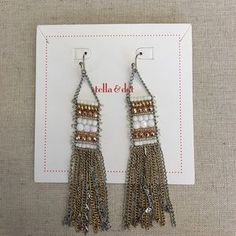 "I just added this to my closet on Poshmark: Dakota Earrings. Price: $24 Size: 31/4"" long"
