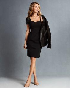 b7434ececd Women s Workwear · Our best kept secret. - Brooks Brothers Ponte-Knit  Sweetheart-Neck Sheath Dress