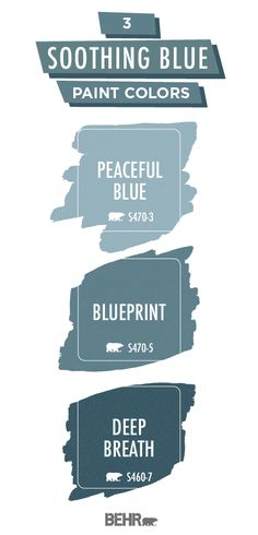 If you're looking for the perfect paint color palette, look no further than these soothing blue hues from Behr Paint. With a light pastel color, a deep shade of teal blue, and the mid-tone blue Blue Gray Paint Colors, Behr Paint Colors, Paint Color Palettes, Blue Colour Palette, Room Paint Colors, Exterior Paint Colors, Paint Colors For Living Room, Paint Colors For Home, House Colors