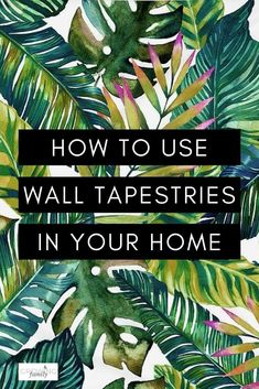 Have you ever considered using a wall tapestry instead of a traditional art print?  Here's why wall tapestries might be perfect for your home. #interiors #growingfamily Large Tapestries, Wall Tapestries, Tapestry, Artwork Prints, Wall Prints, Watercolor Mandala, Jungle Vibes, Ceiling Decor, Headboards For Beds
