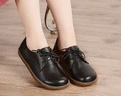 Oxford Leather Shoes for Women, Close Shoes, Flat Shoes,Casual Shoes
