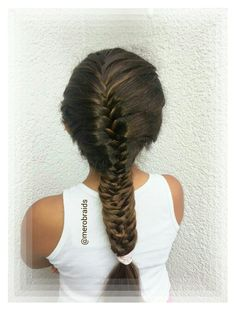 French fishtail into a woven fishtail