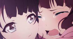 I love games and anime. Lolis Anime, Anime Couples Manga, Sad Anime, Anime Eyes, Anime Love, Kawaii Anime, Anime Art, Anim Gif, Gif Animé