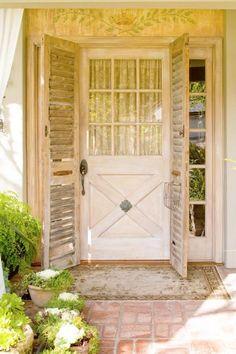 Love old shutters!