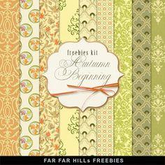 New Freebies Kit of Backgrounds - Autumn Beginning:Far Far Hill - Free database…