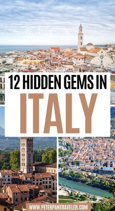 12 Hidden Gems in Italy . Italy is an amazing country. The food, the people, and the culture. It pretty much has it all. The better spots are the hidden gem in Italy. Here is a list of my top favorite hidden gems in Italy and off the beaten path Italy. Italy Hidden Gems | Hidden Gems in Italy | Secret Spots in Italy | Secret Places in Italy | Pretty Places in Italy | Beautiful Places in Italy | Things to do in Italy | Italy Travel Guide | Italy Travel Tips | Best Things to see in Italy |