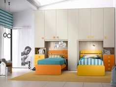 Cameretta Composizione 12 di San martino in OFFERTA OUTLET Kids Bedroom Furniture Design, Modern Kids Bedroom, Cool Kids Bedrooms, Kids Room Design, Bed Design, Girls Bedroom, Shared Bedrooms, Kids Room Curtains, Living Room Decor Curtains