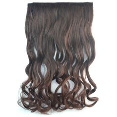 5.52$  Buy here - http://di4ik.justgood.pw/go.php?t=162929701 - Shaggy Curly Synthetic Fashion Long Brown Ombre Graceful Clip In Women's Hair Extension 5.52$
