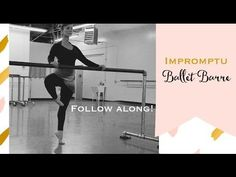 Take an impromptu ballet barre with me! Sarah Arnold - YouTube