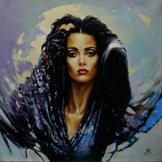 art, canvas, Elegant, Examples, Graphic Art , Karol Bak, painting, Poland, traditional, womans beauty, oil, illustrations,
