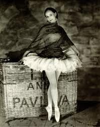 Pavlova with her signature pointed toe shoes and her not so great turn out. One of the most beautiful ballerinas ever..